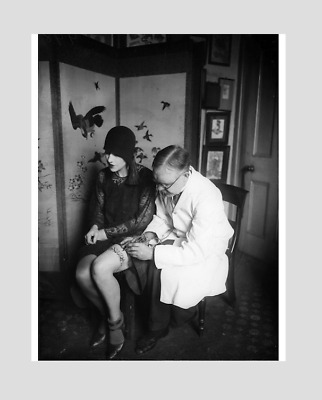 VINTAGE TATTOOED  WOMAN AND ARTIST ! Print !