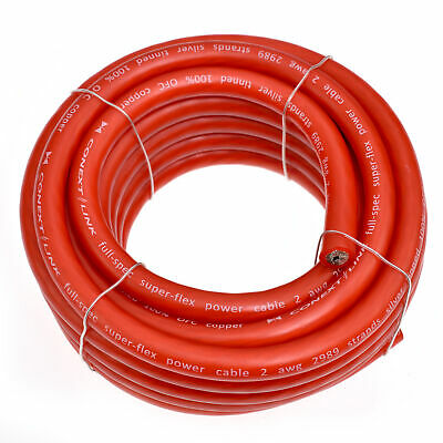 Roll 4 Gauge AWG Ga TruConnex TC4RED4-20 RED Power Wire Cable 20/' Feet Ft