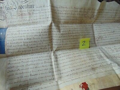 Ink Dip Pen Deed Indenture Manuscript 1779 Gray Lease For A Year
