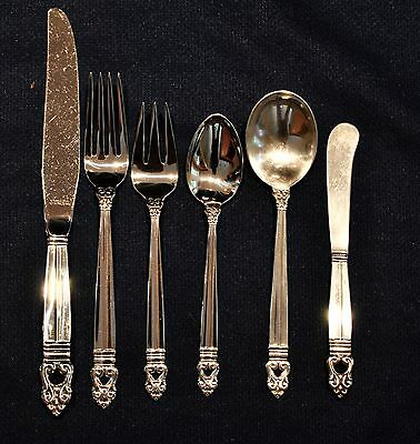 Royal Danish Sterling Silver Flatware Set By International  For 8 By 6