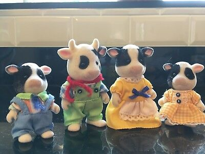 Sylvanian Families - Friesian Cow Family 4167 - Complete