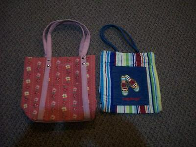 Longaberger Flip Flop tote bag and Dogwood tote bag with snap closure