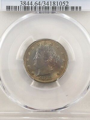 1883 5C With CENTS Liberty Nickel PCGS MS64