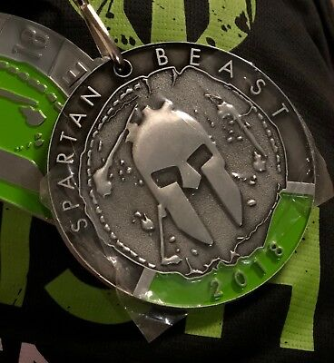 2018 Spartan Beast Medal With Trifecta Piece!