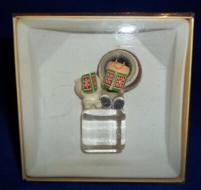 1980 Hallmark Frosty Friends Cool Yule #1 Christmas Eskimo Ornament 1st series