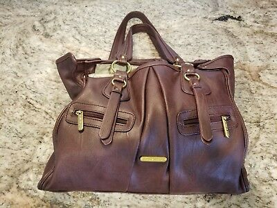 Timi Leslie Dawn Diaper Bag In Burgundy Leather 20 00