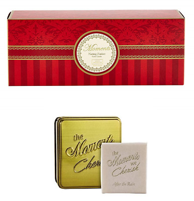 Arran Aromatics Luxury Votive Candles Set of 3 & Gift Tin of Soap After The Rain