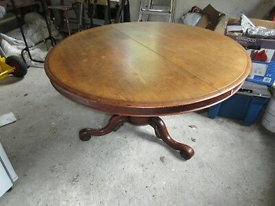 Victorian Mahogany Round Breakfast Table / Tilt Top