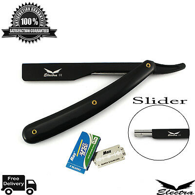 Professional Razors Barber Salon Straight Cut Throat Shaving Razor NEW, Black EB