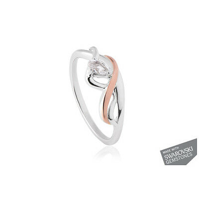 BRAND NEW Welsh Clogau Silver & Rose Gold Ballerina Ring SIZE S £75 off!