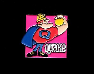 Quake Cereal Quaker Oats Advertising Pinback-Mid-1990's Diecast Metal / Enamel