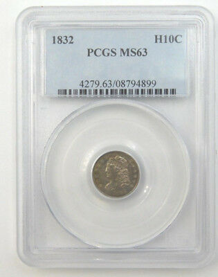 1832 Capped Bust Half Dime PCGS Graded MS63, 4279.63/08794899