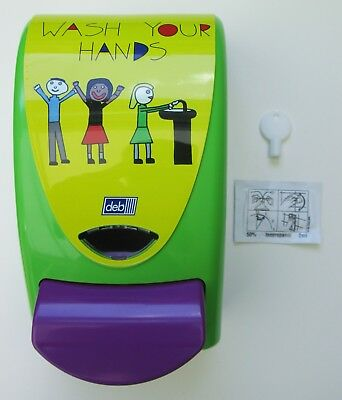 *NEW* Deb Foam Hand Soap 1L Dispenser with Key for Home Nursery School Workplace