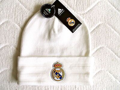 REAL MADRID ADIDAS 3S FOOTBALL BEANIE HAT Casquette Hut Mens OSFM Soccer 684d4970aaff