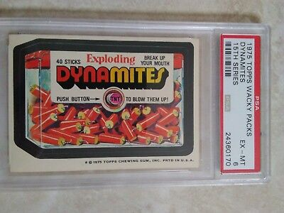 1975 Topps Wacky Packages Dynamites 15th Series PSA 6