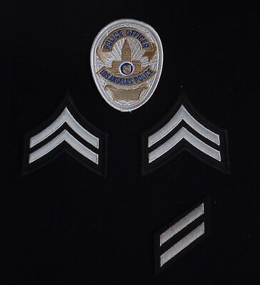 LAPD Los Angeles Police Officer badge patch & rank, service stripes patchs