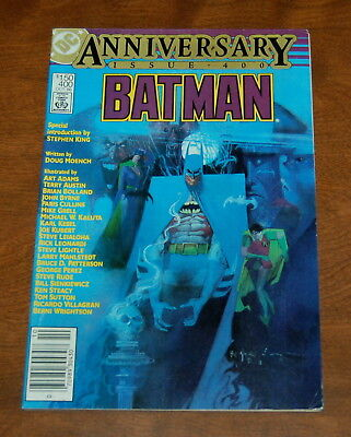 Batman #400 DC Comics (Oct, 1986) FN/VF Intro By Stephen King Anniversary Issue