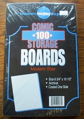 Comic Storage 100 Modern Current Size Boards Southern Hobby Supply Coated Boards