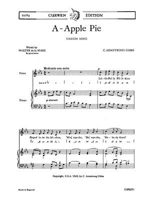 C.Armstrong Gibbs: A-apple Pie Classical Score Unison Voice SHEET MUSIC BOOK