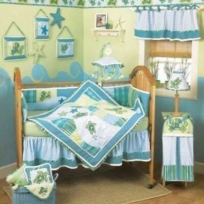 CoCalo Turtle Bay Bedding Set and TONS Of Crib/Room Accessories!