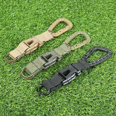 Military Army Tactical Webbing Belt MOLLE Keychain Quick Release Buckle Key Ring