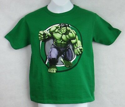 Incredible Hulk Boys T-Shirt Officially Licensed Marvel Green Size 8 New