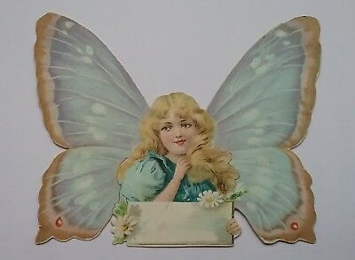Victorian Scrap of a Beautiful Angel. App.12x9cms(wing span)