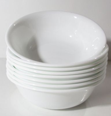 """Corelle WINTER FROST WHITE Coupe 6-1/8"""" Soup Cereal Bowls Set Of 6"""