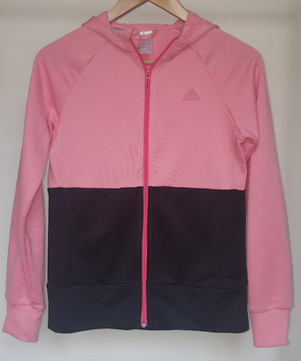 Girls Childs Retro Vintage Adidas Tracksuit Top Age 13 - 14 Years  #1121051