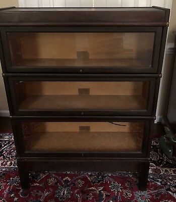 Antique GLOBE WERNICKE 3 Stack Bookcase - early 1900's