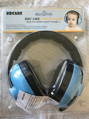 bbcare mini earmuffs baby blue 3+ months hearing protection