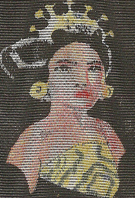 Vintage tobacco cigarette silk - use in crazy quilt -c1930 Nation Girl Indie-Ned