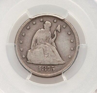1875-CC PCGS VG08 20C Twenty Cent Piece Very Good VG8 Type Coin 140 Years Old