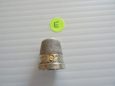 Antique Sterling Sewing Thimble 1925 Hallmark JS & S