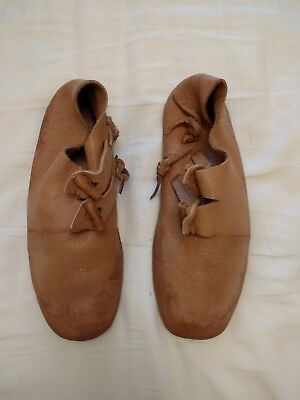 Leather Viking reenactment shoes size 8 mens
