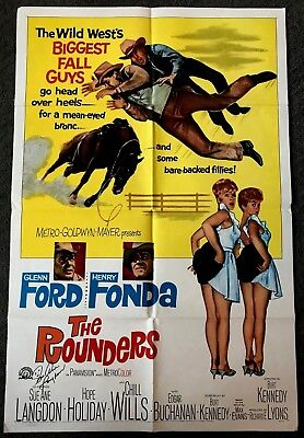 Sue Ane Langdon Signed Autographed Photo. The Rounders. Original Movie Poster.