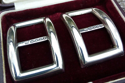 Antique Pair of Silver Buckles in Original Box Hallmarked for London 1868