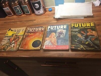 4 x Future Science Fiction - Pulp magazines - 1950s