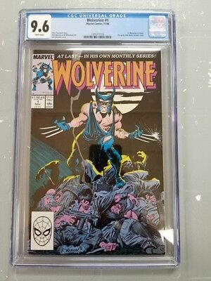 Wolverine #1 - CGC Graded: 9.6 - 1st Wolverine as Patch - RARE (1988)