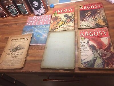 5 x Argosy magazines. 1920s and 1930s