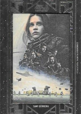 2018 Topps Star Wars Galactic Files Movie Poster Patch Card Saw Gerrera MA-SG