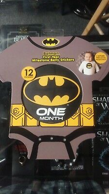 BATMAN First Year Milestone 12 Month Belly Stickers, LICENSED! NEW! FREE SHIP!