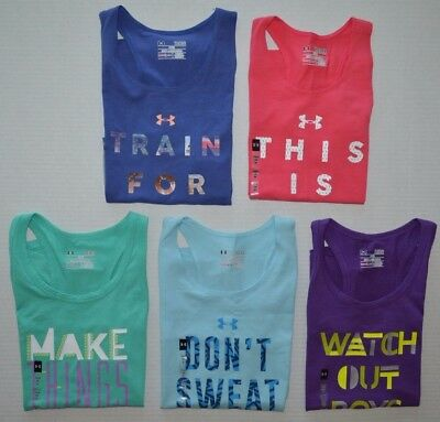 ef0aa5456cc759 GIRL S YOUTH UNDER Armour Heat Gear FITTED Tank Top -  14.99