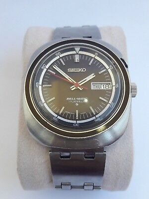 Vintage Seiko Bellmatic Automatic 17 Jewels Cal.4006A Day Date Men's Wrist Watch