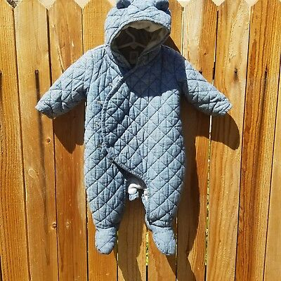 AWESOME Baby GAP DenimBlue Down Filled Snow Suit One Piece 3-6 m Great condition