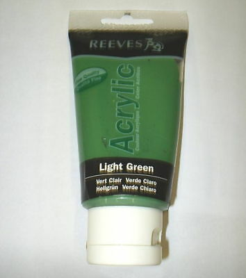 Reeves Acrylic Paint - Light Green - 75Ml