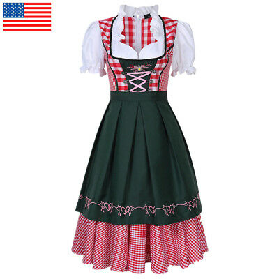 Trachten Dirndl German Bavarian Beer Girl Costume Oktoberfest Fancy Dress