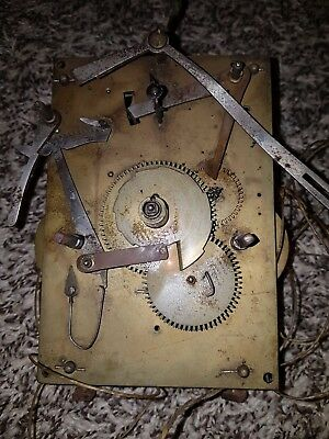 Antique Georgian c1800 Twin Weight, Time & Strike Longcase Clock Movement