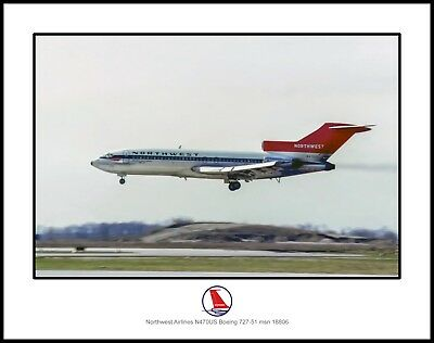 Northwest Airlines Boeing 727-51  11x14 Photo (I226LAJF11X14)