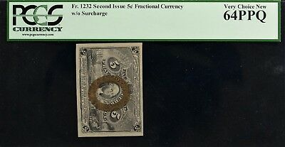 Fr. 1232 Second Issue 5c Fractional Currency PCGS VCN64 PPQ